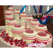 acrylic wedding cake stands 12 with crystal stand