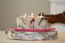 White Birch Candle & Tea Light Holders