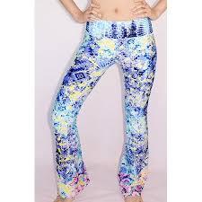 Patterned Yoga Pants Beauteous Luna Jai Women's Unique MultiPatterned Flare Yoga Pants Small