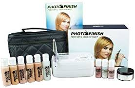 photo finish professional airbrush cosmetic makeup system kit fair to um shades 5pc foundation set