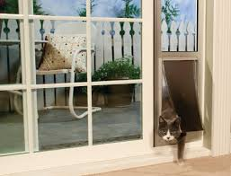 let your pet join you out on the patio or outside deck with a sliding glass door insert or pet screen door