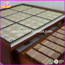 Wooden Sudoku Game Board Hot New Product For 100 Wooden Sudoku Toy For KidsEducational 24