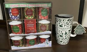 We tuck our elegant gift boxes inside crisp, godiva tissue paper to create the perfect gifting experience. Gourmet Holiday Gift Set Coffee Collection And Godiva Travel Mug Ebay