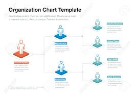 Simple Company Organization Hierarchy Chart Template With Place