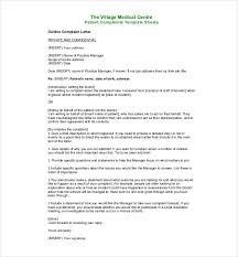 complaint letters templates hr templates premium  medical complaint letter pdf