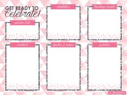 Party Planning Lists Easy Party Planning Desktop Organizer Free Download