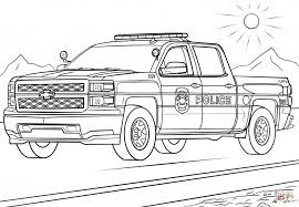 Coloring Pages Police Truckloring Page Free Printable Pages