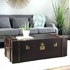 chest table large trunk style coffee tables vintage chest table storage rustic brilliant journey leather
