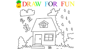 Small Picture How to Draw Cute House Draw For Fun Art Colours for Kids with