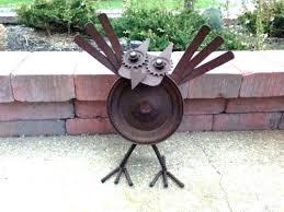 large metal yard art spinning yard art large yard art metal yard art large rustic owl