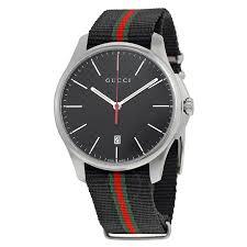 gucci 126 4. gucci g-timeless black dial fabric striped men\u0027s watch ya126321 126 4 e