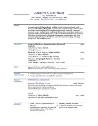 Good Resume Template Pelosleclaire Com
