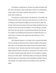 response essay sondra hubbard art tc response essay  2 pages experiencing art essay