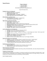Resume For National Honor Society National Junior Honor Society