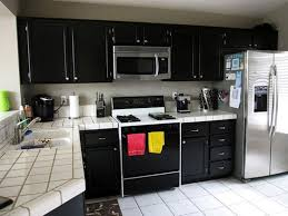 black kitchen cabinets lowes