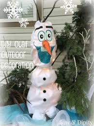 diy olaf outdoor light up decoration 6