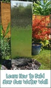 diy glass water wall water feature