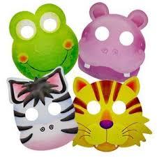 Карнавальные <b>маски</b> бумажные Забавные зверята ассорти ...