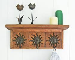 Black Wood Wall Coat Rack Furniture Modern and Simple Wall Coat Rack With Shelf Nu 91