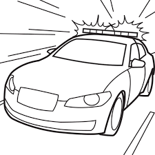 Police Car Coloring Pages Printable Only Coloring Pages Coloring