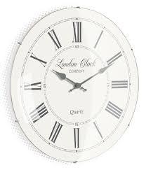 cream glass domed wall clock