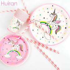 Huiran <b>Unicorn Disposable</b> Tableware <b>Disposable</b> Paper Plate ...