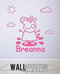 peppa pig wall decal vinyl sticker personalised childrens bedroom decoration on peppa pig wall art stickers with peppa pig wall decal vinyl sticker personalised childrens bedroom