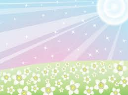 Shiny Summer Day Powerpoint Templates Flowers Green
