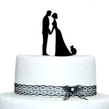 Amazon Wedding Cake Topper Bride with Cat and Groom