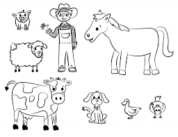 Small Picture Free Printable Farm Animal Cutouts
