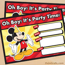 Mickey Mouse Party Printables Free Free Mickey Mouse Party Printables Little Wish Parties