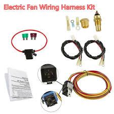 car dual electric cooling fan wiring harness install kit 185 165 details about car dual electric cooling fan wiring harness install kit 185 165 thermostat 40a