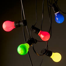 outdoor party lighting hire. colored festoon lighting hire outdoor party