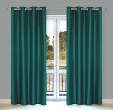com lj home fashions silkana faux silk grommet curtain panels set of 2 56x88 in teal green home kitchen