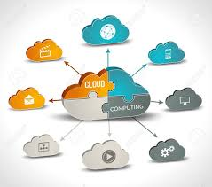 Chart On Cloud Computing Cloud Computing Infographics Set With 3d Chart And Data Processing