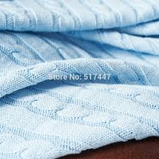 cotton knit blanket on sofa bed 180