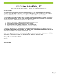 Cover Letter Sample Included Physical Therapy Istantumes Massageume