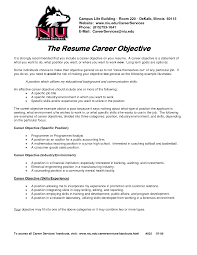 Examples Of Career Objectives On Resume General Job Objective For