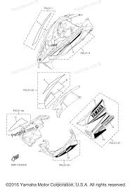 Yamaha snowmobile 2014 oem parts diagram for emblem partzilla