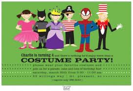 Girl Or Boy Birthday Invitations Costume Party Invitations