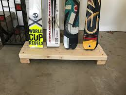 how to make a simple ski rack rest to