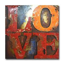 love letters 39 inch square metal wall art on red metal wall art bed bath and beyond with love letters 39 inch square metal wall art bed bath beyond