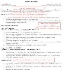 Expert Cv Advice Sample Of A Good Cv