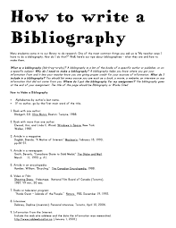 Bibliography Examples Rr Collections