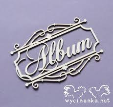 Album Word Wycinanka Loveliness Frame With Word Album