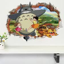 3d Hayao Miyazaki Animatie Ghibli Totoro Muursticker Voor
