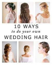 Hairstyle Yourself 10 ways to do your own wedding hair 7996 by stevesalt.us