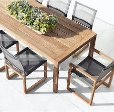 aegean teak rectangular dining table