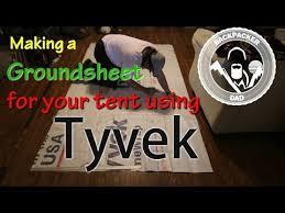 making a tyvek groundsheet