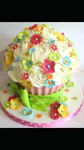 Giant Cupcake Birthday Cake Tesco Themed Ideas Cakes Bright Floral